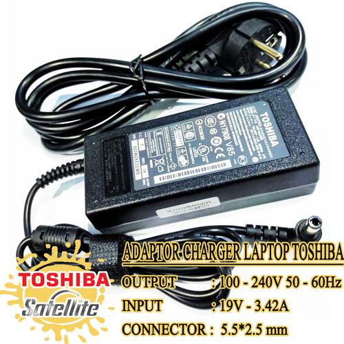 Foto Produk Adaptor Charger Laptop Toshiba Satellite C800 L20 L310 19V 3.42A ORI dari JHESTORES
