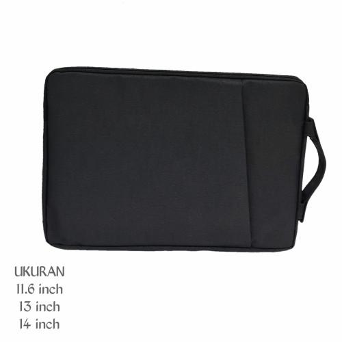 Foto Produk Softcase Laptop 14 inch sleeve case black - Hitam, 11.6 inch dari Reejust