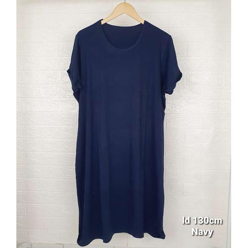 Foto Produk aline dress jumbo xxxl rayon spandex - navy dari kaoscoid