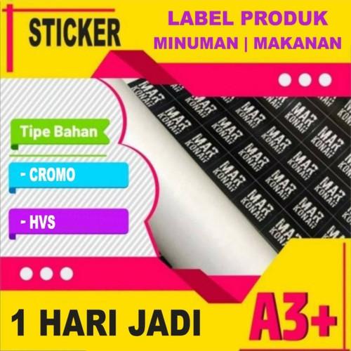 Foto Produk Cetak Stiker / Sticker Label A3 A3+ bahan Cromo / HVS dari Kirei Shops