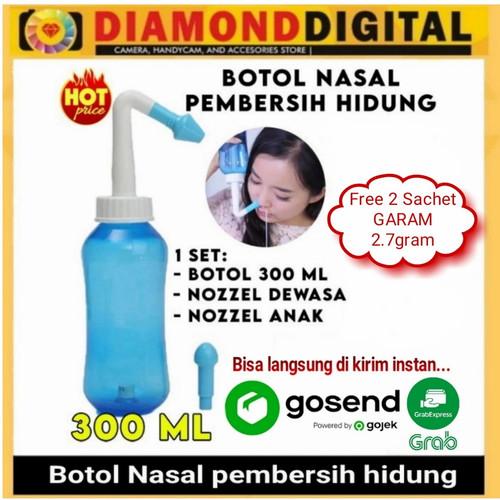 Foto Produk Botol Nasal Pembersih Hidung Alat Pencuci Hidung Nasal Nose Wash Clean - Botol + 2 Garam dari Diamond Digital88