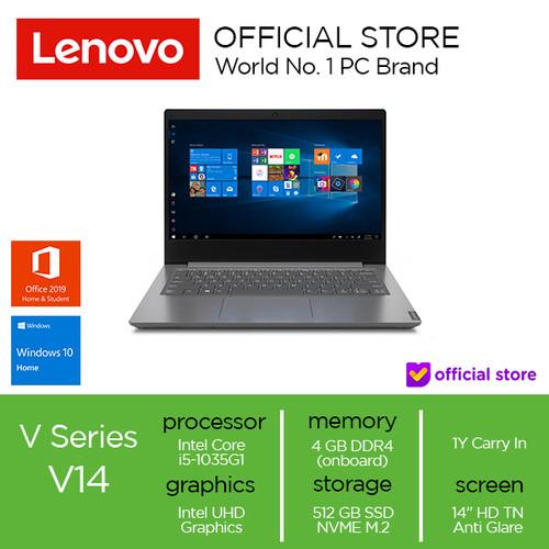 Foto Produk Lenovo V14 IIL Core i5-1035G1 4GB 512SSD W10 OHS - 4 gb dari Lenovo Official
