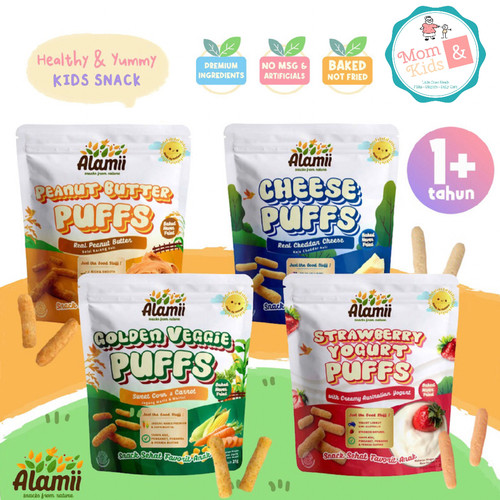 Foto Produk Alamii Puff Snack Bayi / Anak 25 gr - Golden Veggie dari Toko Susu Mom n Kids