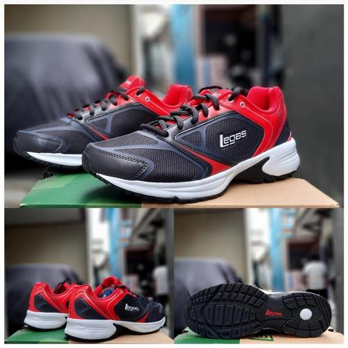Foto Produk Sepatu running League Legas original olahraga futsal - Merah Hitam dari Onlinejaya