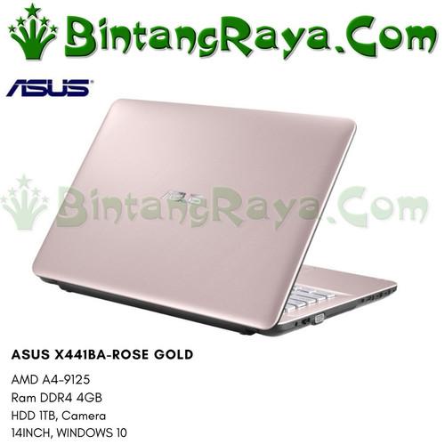 Foto Produk Laptop Asus X441BA AMD A4-9125 Ram 4GB HDD 1TB DVD Win.10 dari bintang raya depok