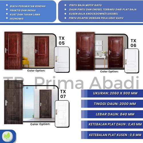 Foto Produk PINTU BAJA - KODAI STEEL DOOR - TX 01, Cokelat dari TB Prima Abadi