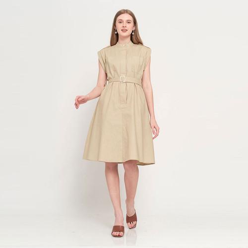 Foto Produk Chocochips - Misty Dress Beige - Cokelat, S dari Chocochips Official Shop