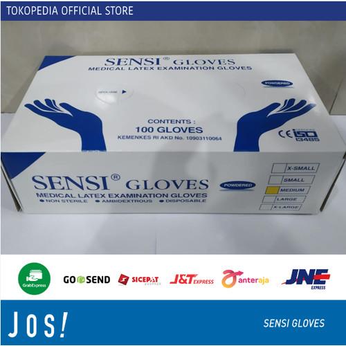 Foto Produk SENSI GLOVES LATEX / Medical Examination / Sarung Tangan Latex isi 100 - SARUNG MEDIUM dari J O S