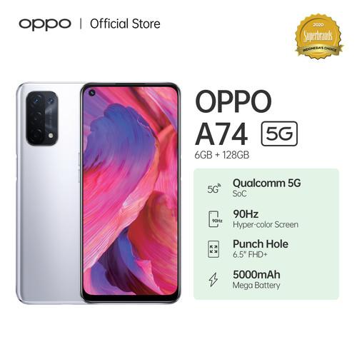 Foto Produk OPPO A74 5G Smartphone 6GB/128GB (Garansi Resmi) - Abu-abu dari OPPO OFFICIAL STORE