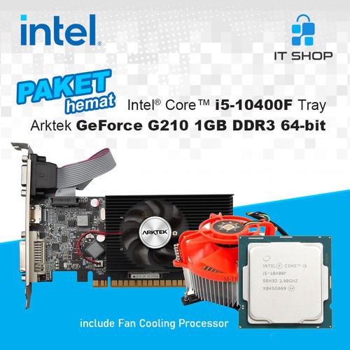 Foto Produk PAHE Intel 1200 Core i5 10400F Tray & Arktek Cyclops 1GB GeForce G210 dari IT-SHOP-ONLINE