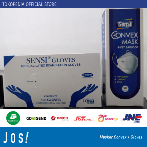 Foto Produk Masker Sensi Convex Mask 4ply 4D KF94 Original Asli earloop dan Gloves dari J O S