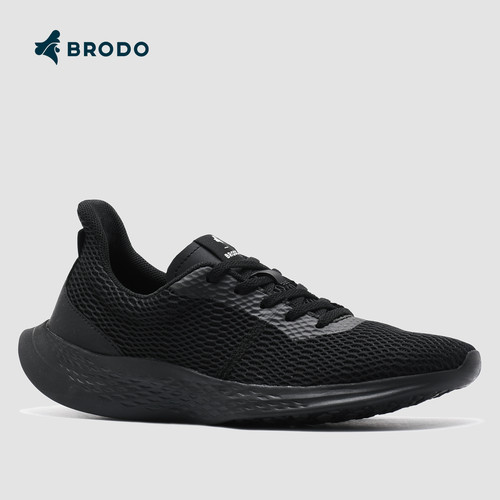 Foto Produk Sneakers Unisex BRODO Active Sprint Full Black - 36 dari BRODO OFFICIAL STORE