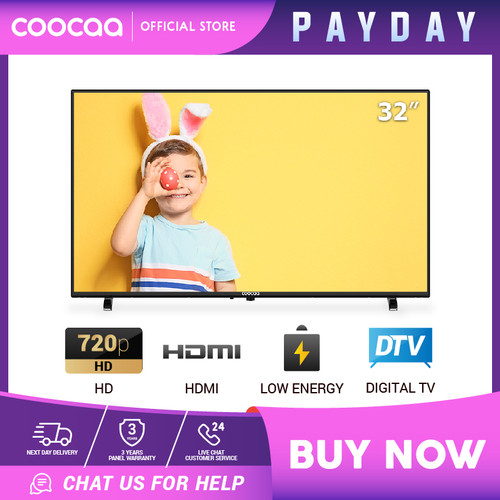 Foto Produk [NEW PRODUCT] Coocaa LED TV 32 inch - DigitalTV DVB T/T2 (Model 32D5T) dari Coocaa Official Store