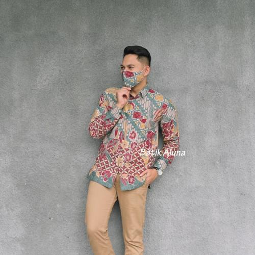 Foto Produk kemeja batik pria lengan panjang kualitas premium PCW120 - S dari batik aluna collection