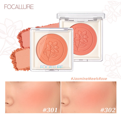 Foto Produk FOCALLURE #JasmineMeetsRose Blush High Pigment bedak FA235 - #101 dari beauty entity