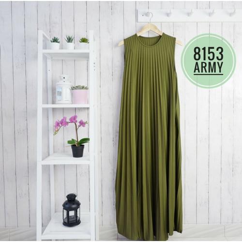 Foto Produk Zara Dress Plisket | Gamis Plisket (Varian 2) - Army dari Mayzaa
