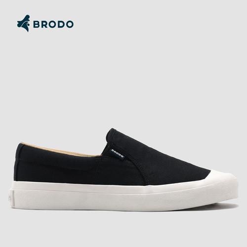 Foto Produk Sneakers Unisex BRODO Vantage V.2 Slip On Black WS - 36 dari BRODO OFFICIAL STORE
