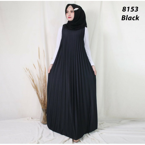 Foto Produk Zara Dress Plisket | Gamis Plisket (Varian 1) - Black dari Mayzaa
