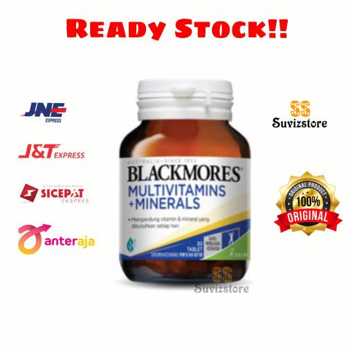 Foto Produk Blackmores Multivitamin + minerals Bpom kalbe isi 120 tablet - Isi 30 dari Suvizstore