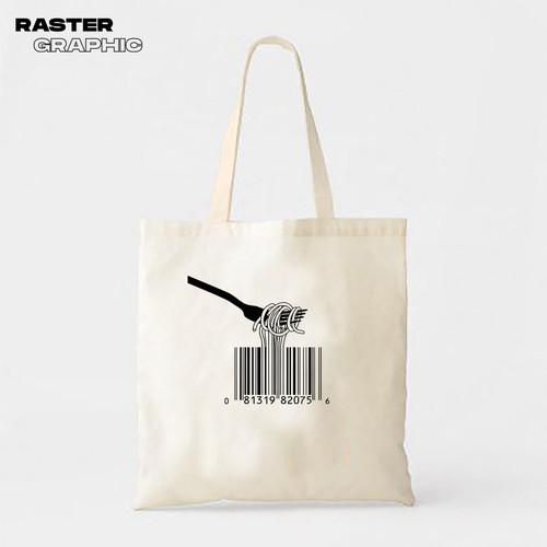 Foto Produk Tote bag canvas Noodle | tote bag custom satuan by Tokokaos dari Raster Graphic Print