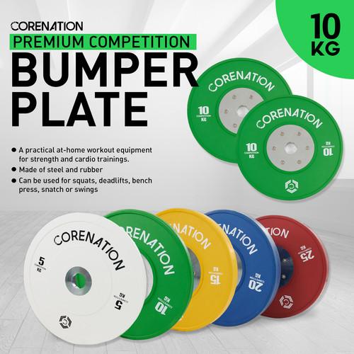 Foto Produk CoreNation Active Premium Competition Bumper Plate - 10kg Green (Pair) dari CoreNation Active