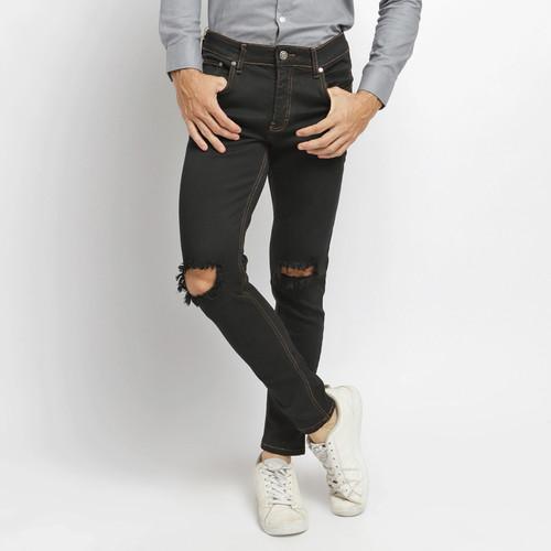 Foto Produk VENGOZ Celana Jeans Skinny Pria - Black Ripped - Hitam,29 dari VENGOZ