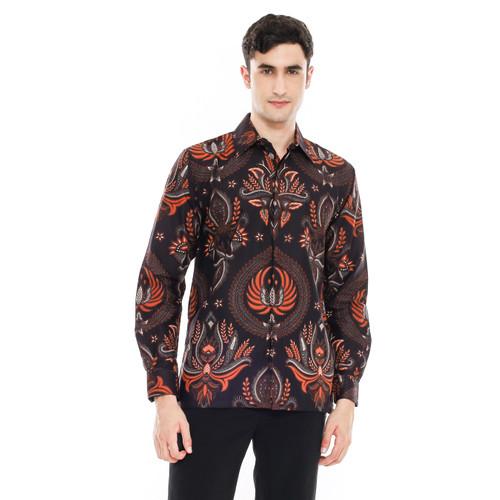 Foto Produk Kemeja Batik Pria | Lengan Panjang | Regular Fit | Abirama - M dari piguno batik & craft
