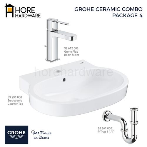 Foto Produk GROHE Paket Eurocosmo Plus Basin Wastafel 39291000 + 32612003 dari HORE Hardware