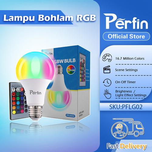 Foto Produk Perfin PFLG02 Lampu Bohlam LED RGB Berubah Warna dengan Remote Control dari Perfin