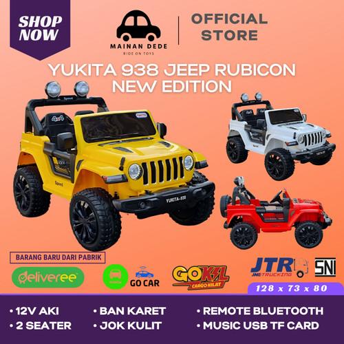 Foto Produk Mainan Mobil Aki Anak Super Jeep Rubicon Yukita 938 4x4 BAN KARET - Hitam dari Mainan Anak Dede