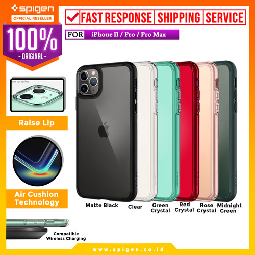 Foto Produk Case iPhone 11 Pro Max / 11 Pro / 11 Spigen Ultra Hybrid Anti Crack - Crystal Clear, iPhone 11 dari Spigen Official