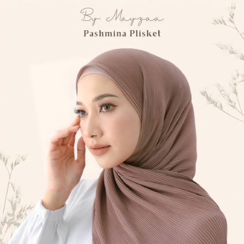 Foto Produk Pashmina Plisket By Mayzaa - Navy dari Mayzaa