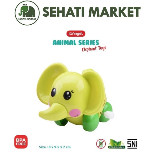 Foto Produk IQANGEL SHARP DUMBO ELEPHANT TOYS GAJAH IQ631 - Green dari SEHATI MARKET