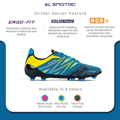 Foto Produk SPOTEC Sepatu Soccer Striker Soccer Biru Muda - Kuning - 40 dari Spotec Official Store