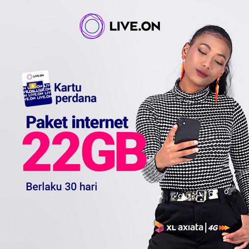 Foto Produk Kartu Perdana Live.On XL 22GB (30 hari) dari Live On Official Store