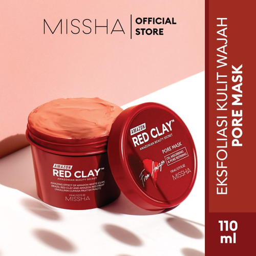 Foto Produk MISSHA AMAZON RED CLAY PORE MASK - masker (110ml) dari Missha Indonesia