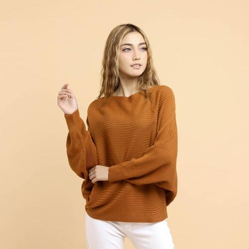 Foto Produk lasperal batwing real pic rajut berkualitas fit XXL - Orange dari Fashion Hijab & Sweater
