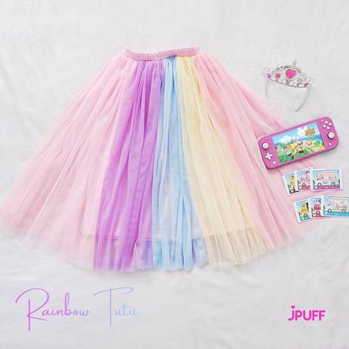Foto Produk ROK TUTU ANAK RAINBOW ORIGINAL JPUFF - RAIN BOW KIDS SKIRT - Vol. 1, 5-6 tahun dari Jpuffid