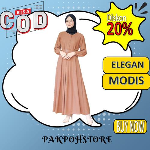 Foto Produk ATASAN DRESS BAJU GAMIS WANITA TERBARU 2021 BUSUI REMAJA MUSLIM DRES dari Pak Poh Store