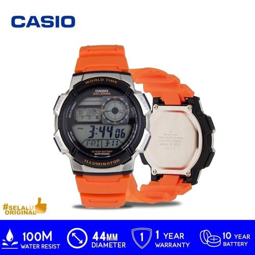 Foto Produk Casio GENERAL AE-1000W-4BVDF / AE 1000W 4BVDF / AE1000W ORIGINAL - Orange dari GrosirGshock