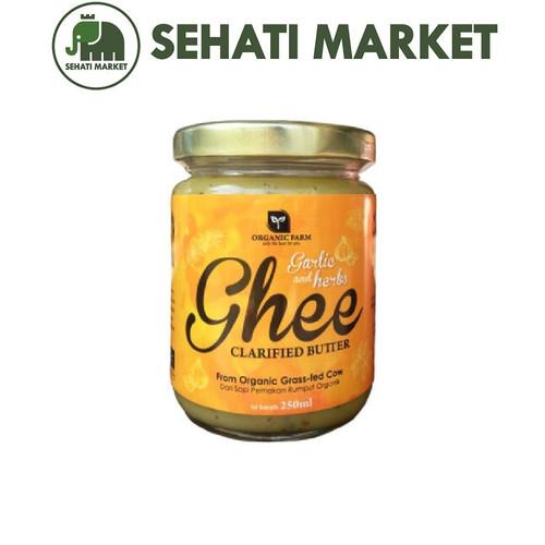 Foto Produk GHEE ORGANIC FARM CLARIFIED BUTTER GARLIC HERBS 250 ml MPASI dari SEHATI MARKET
