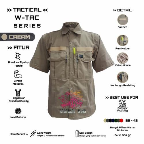Foto Produk Kemeja Tactical W-TAC lengan pendek - Crem, S dari Tactical king
