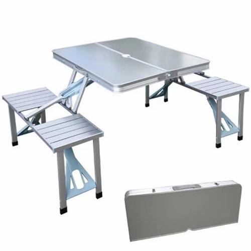 Foto Produk Meja Lipat + Kursi Portable Koper Serbaguna - Putih dari DDS Infinity