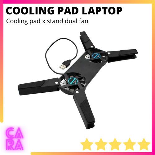 Foto Produk Cooling Pad Laptop Dual Fan X Stand dari CARA Store