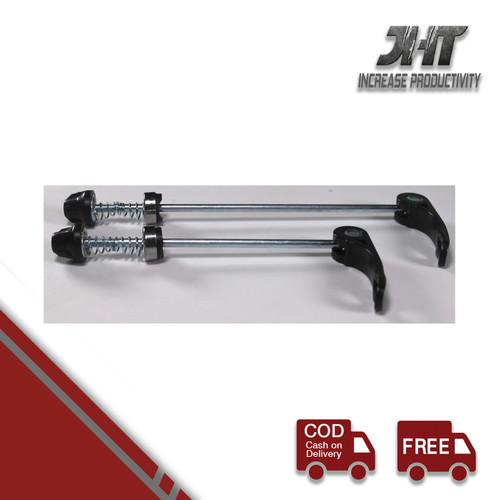 Foto Produk Baut QR AS roda sepeda Depan+Belakang - Hitam Quick Release wheel hub dari MST Official
