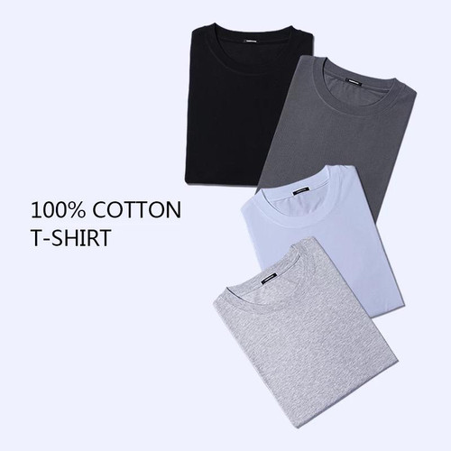 Foto Produk Kaos Polos Pria Bahan Cotton Combed 30s Premium Korea 100% SuperSoft - S dari PT Berlian Sandang Indonesia