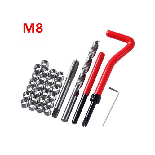 Foto Produk Thread Repair Kit Set Recoil M5/M6/M8 Helicoil For Drat Slek Dol Rusak - M8 dari Soya Global