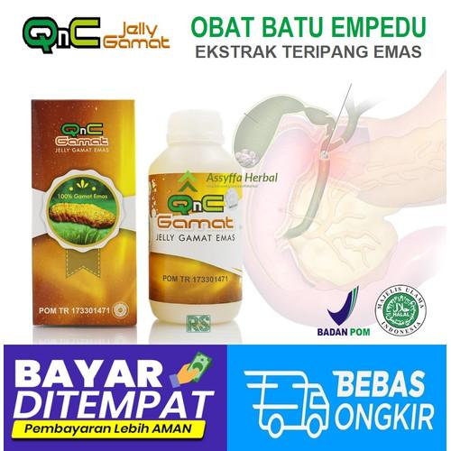 Foto Produk OBAT PENGHANCUR BATU EMPEDU HERBAL   JELLY GAMAT EMAS GOLD QNC ASLI dari Assyffa Herbal