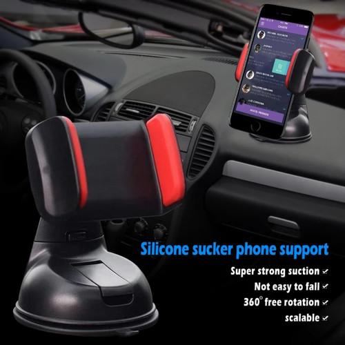 Foto Produk Car Phone Holder Hp Mobil Dashboard Spion Tempat Hp 3 in 1 - holder silicon dari Ollyn Shop