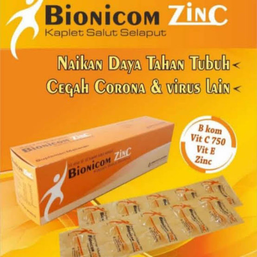 Foto Produk Becom Zet Becomzet Multivitamin Daya Tahan Tubuh - Bionicom Zinc dari Squishyshop_sub